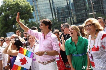 加拿大总理特鲁多又一次参加LGBT骄傲游-行 同志新闻 第4张