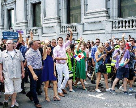 加拿大总理特鲁多又一次参加LGBT骄傲游-行 同志新闻 第2张