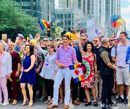加拿大总理特鲁多又一次参加LGBT骄傲游-行 同志新闻 第6张