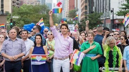 加拿大总理特鲁多又一次参加LGBT骄傲游-行