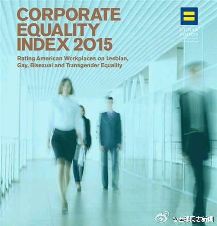 美国大公司同性恋包容度评分