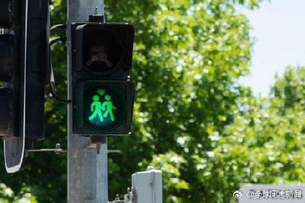 澳大利亚:同性恋交通灯庆贺婚姻平权一周年 同志新闻 第2张