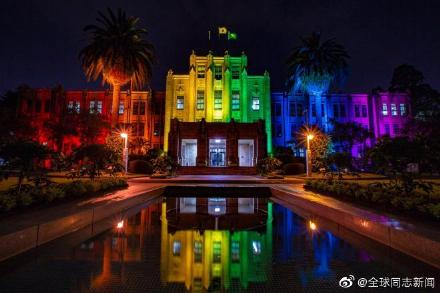日本宫崎县政府举办LGBT彩虹周活动,政府大楼亮彩虹灯光 同志新闻 第2张