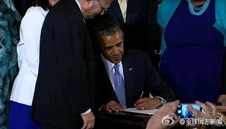 奥巴马签署行政命令:禁性倾向歧视