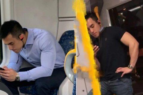 地铁抓拍西装素颜帅哥火了,私下脱成这样可真够拼!