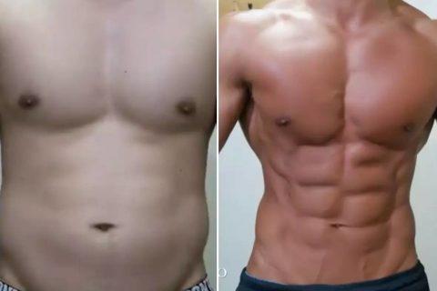25岁小伙坚持减脂四个月的体型变化