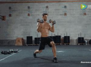 【组图】一副哑铃,6个动作,让你在家练爆全身! 健身穿搭 第3张