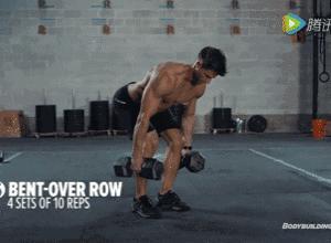 【组图】一副哑铃,6个动作,让你在家练爆全身! 健身穿搭 第5张